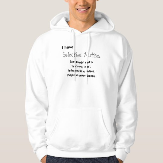 Selective mutism tröja med luva