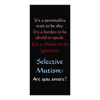 Selektiv Mutism medvetenhet Reklamkort