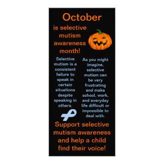 Selektiva Mutism medvetenhetmånadfakta Reklamkort