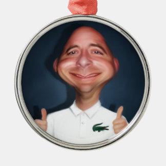 Selfie Rund Silverfärgad Julgransprydnad