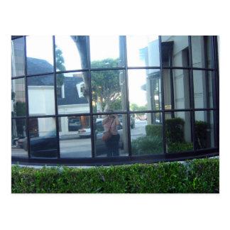 selfportraiten kvadrerar in vykort