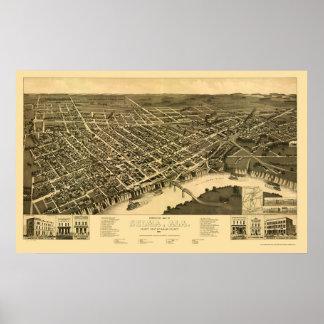 Selma panorama- karta för AL - 1887 Poster