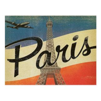 semester för turism för paris frankrikevintage vykort