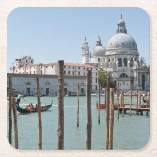 Semestern i Venedig landskap kustfartyget Underlägg Papper Kvadrat