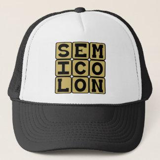 Semikolon typ av interpunktion truckerkeps