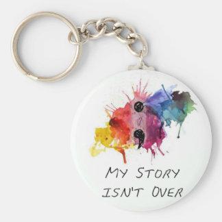 Semikolonet min berättelse är inte över rund nyckelring
