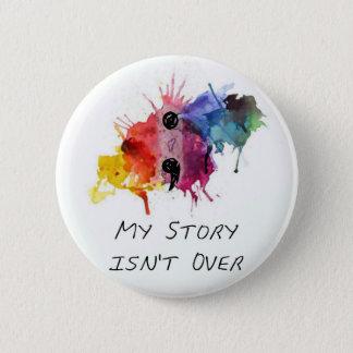 Semikolonet min berättelse är inte över standard knapp rund 5.7 cm