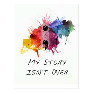 Semikolonet min berättelse är inte över vykort