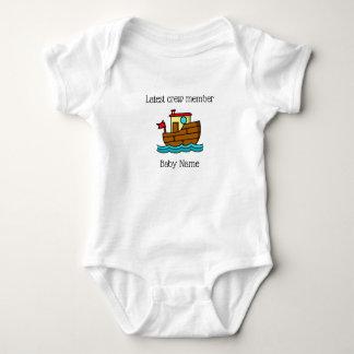 Senast personlig för besättningsmanbogserbåtfartyg tee shirt