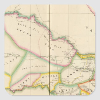 Senegal afrika fyrkantigt klistermärke