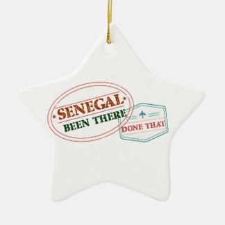 Senegal där gjort det julgransprydnad keramik