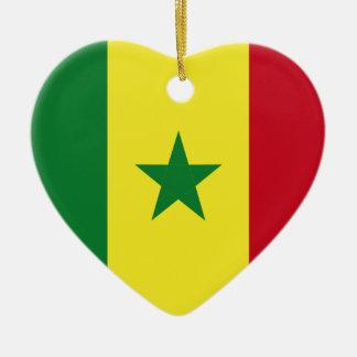 Senegal flagga julgransprydnad keramik