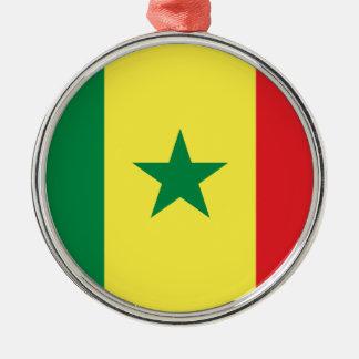 Senegal flagga julgransprydnad metall