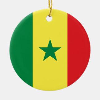Senegal flaggaprydnad julgransprydnad keramik
