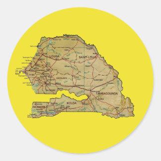 Senegal kartaklistermärke runt klistermärke