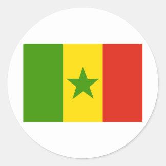 Senegal Runt Klistermärke
