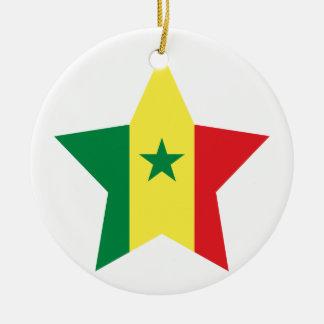 Senegal stjärna julgransprydnad keramik