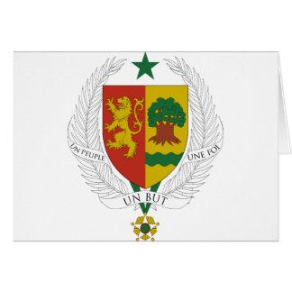Senegal vapensköld hälsningskort