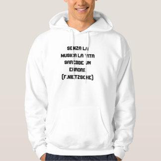 Senza lamusica sweatshirt med luva