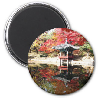 Seoul höstfärger magnet rund 5.7 cm