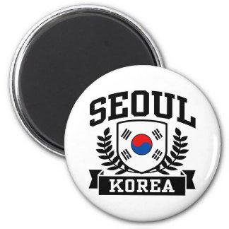 Seoul Korea Magnet Rund 5.7 Cm