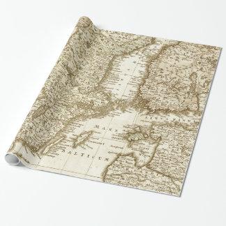 Sepia tonar kartan av den skandinaviska presentpapper