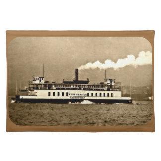 SepiaSteamboatfärja Bordstablett