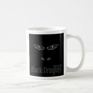 Sept av de svart drakarna kaffemugg