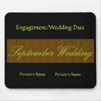 """""""September bröllop"""" Mousepad - anpassade Musmatta"""