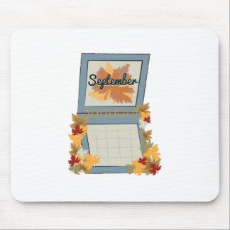 September kalender musmattor