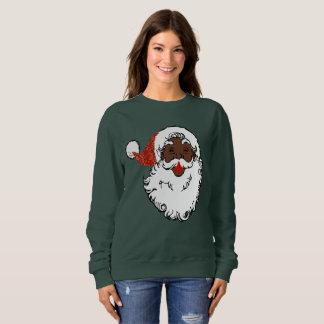 sequins svärtar jultomtenkvinna tröja