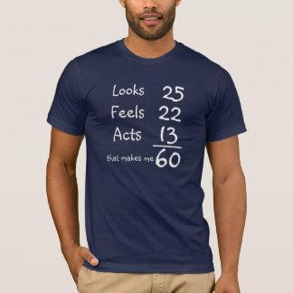 Ser känselförnimmelser, agerar den 60th t-shirt