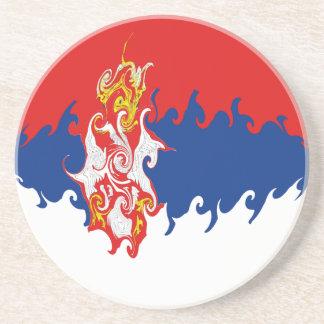 Serbia Gnarly flagga Glasunderlägg