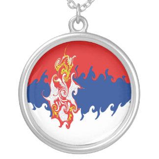 Serbia Gnarly flagga Anpassningsbar Halsband