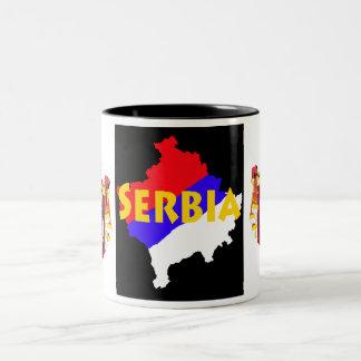 Serbia/Kosovo Två-Tonad Mugg