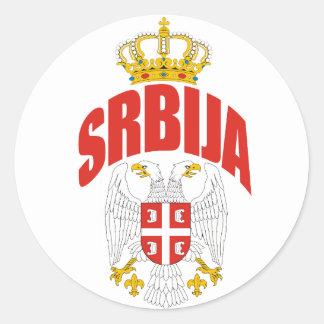 Serbia latin runt klistermärke