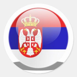 Serbisk flagga runt klistermärke