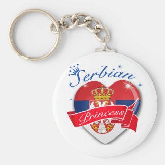 Serbisk Princess Rund Nyckelring