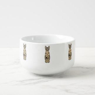 Serengeti katttecknad kopp för soppa