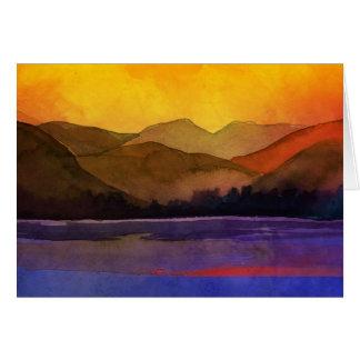 Serenity landskap vattenfärg hälsningskort