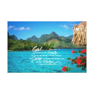 Serenitybön & Bora Bora Canvastryck