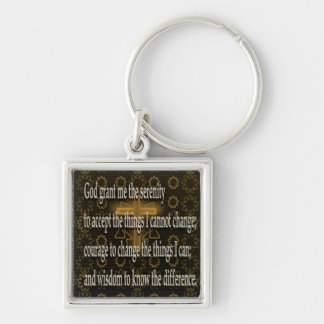 Serenitybön Fyrkantig Silverfärgad Nyckelring