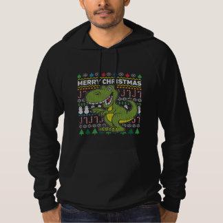 Serie för djurliv för Dino grön ful jultröja Sweatshirt