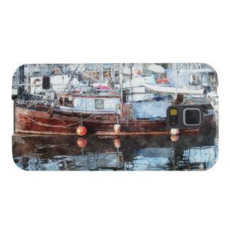serie för konst för Fartyg-älskare Marinaakvarell Galaxy S5 Fodral