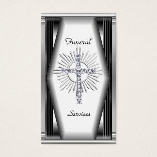 Servar den eleganta begravningen för visitkorten visitkort