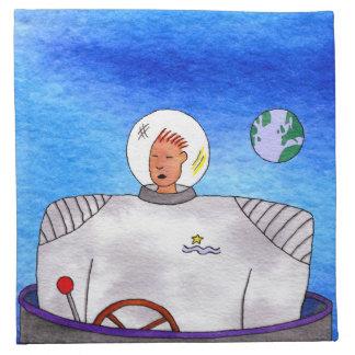 Servett för cuisine för TinCan SpaceMan kosmisk