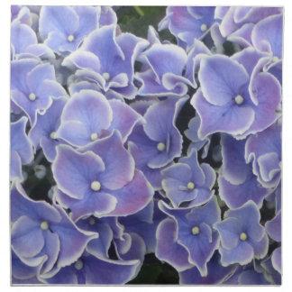 Servett för trasa för blåttvanlig hortensiamönster