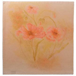 Servett-Vattenfärg orangevallmor