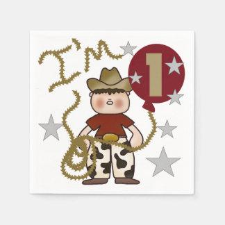 Servetter för 1st födelsedag för Cowboy pappra