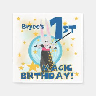 Servetter för 1st födelsedag för magi pappra